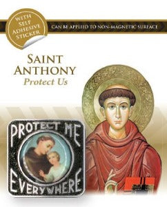 St Anthony of Padua Car Plaque Square