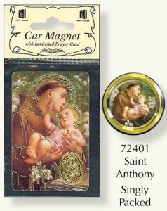 St Anthony Car Plaque