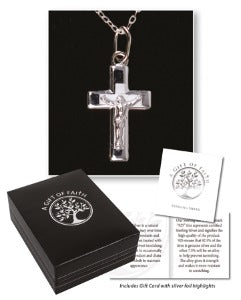 Necklet Sterling Silver crucifix and chain