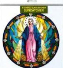 Suncatcher Sticker Our Lady Miraculous Medal