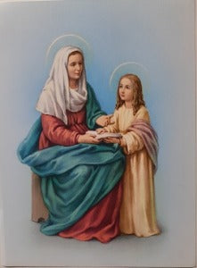 St Anne with Our Lady  A5 size