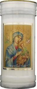 Perpetual Help Devotional Candle