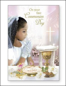 First Communion Card - Girl
