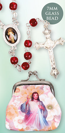 Divine Mercy Rosary with Purse