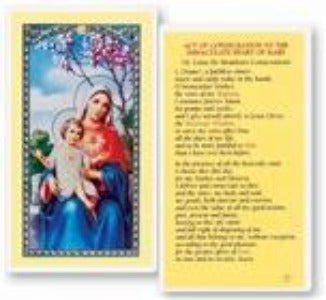Act of Consecration to the Immaculate Heart of Mary Prayer Card