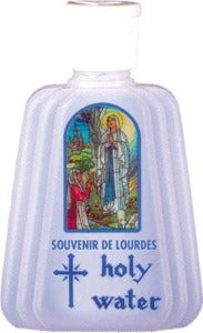 Holy Water Bottle Lourdes with Sprinkler