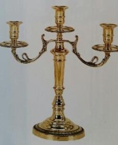 Impero Brass Candle Holder (Three Arm)