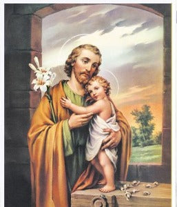 St Joseph and the Child Jesus A4 size
