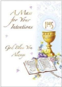 A Mass Card For Your Intentions