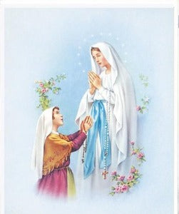 Our Lady of Lourdes Picture A4 size