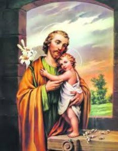 St Joseph with the Child Jesus  A5 size