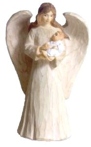 Guardian Angel with Baby 13 cm