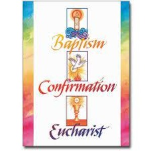 RCIA Baptism Confirmation Eucharist Welcome Card