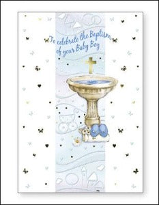 Baptism of Baby Boy Card