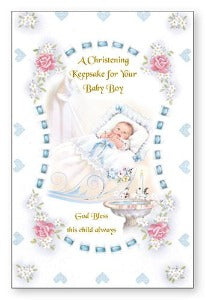 Christening Keepsake for your Baby Boy