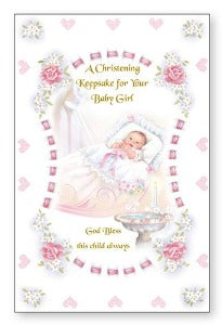 Christening Keepsake for your baby girl