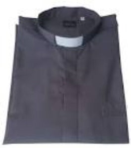 Clerical Shirt Short Sleeved Grey Large