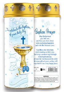 Baptism Candle - Boy