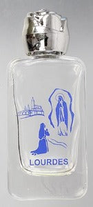 Holy Water Bottle 9cm Lourdes Glass