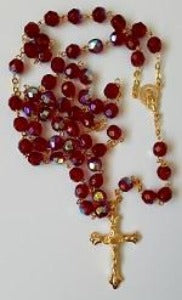 Rosary Red Glass