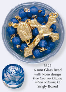 Rosary Blue Glass