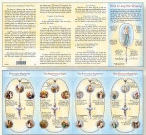 How to Say the Rosary Folded Leaflet