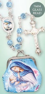 Rosary with Cloth Purse