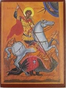Icon - St George and The Dragon
