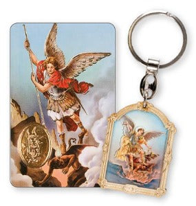 St Michael Keyring with prayer card