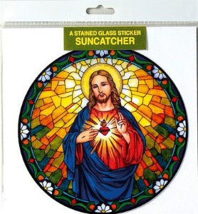 Suncatcher Sticker Sacred Heart