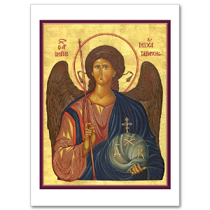 St Michael the Archangel Icon Card