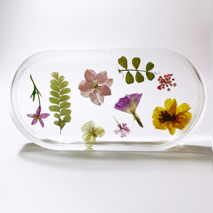 trinket dish in pansy