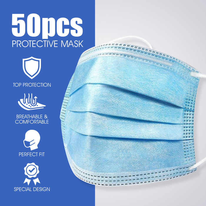 Goltum Disposable 3-ply Face Mask (50 Masks) | *Shipping Within 24 Hours From Canada - Goltum.com