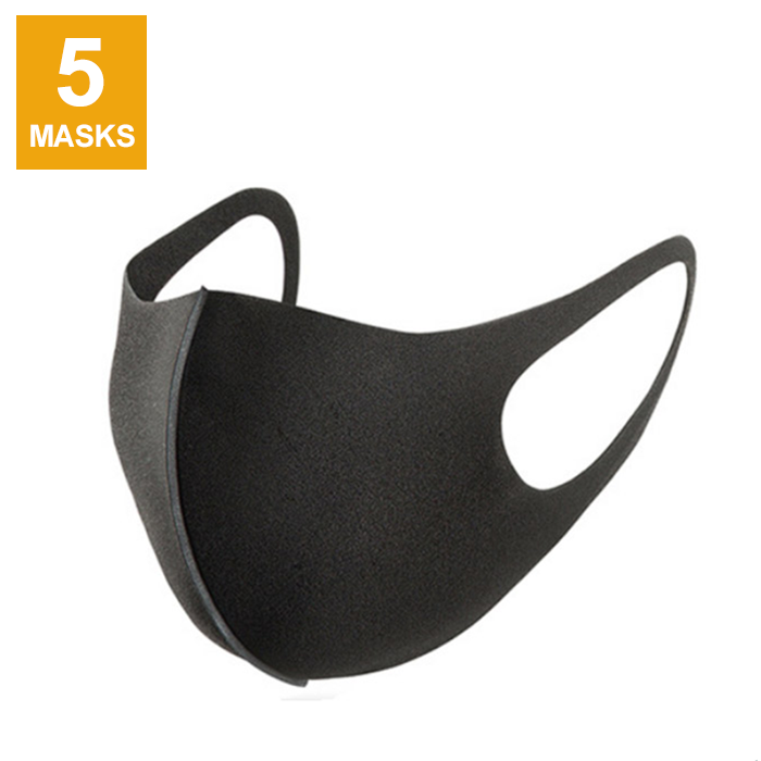 Goltum Fashion Reusable Black Face Mask (5 Masks) | *Shipping Within 24 Hours From Canada