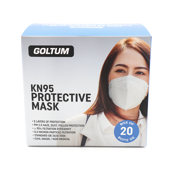 Goltum KN95 Face Mask (20 Masks) | *FREE Shipping Within 24 Hours From Canada