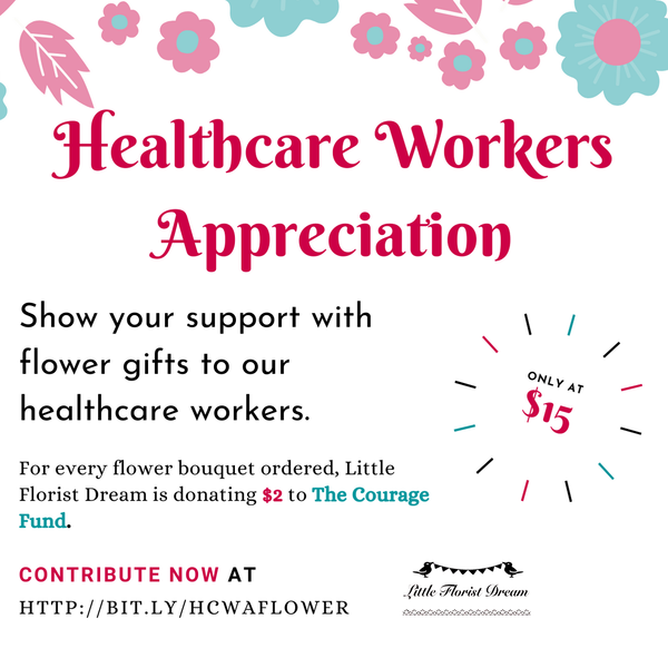 Appreciation Flowers for Healthcare Workers