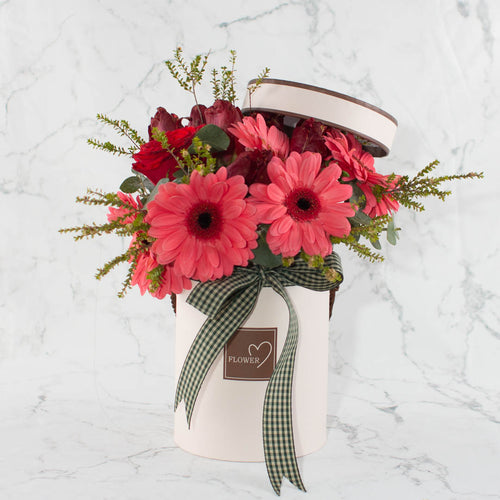 Valentine Pink Flower Box | Little Florist Dream