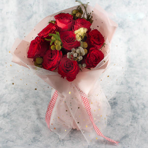 9 Red Roses Valentine's Day | Little Florist Dream