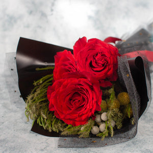 3 Red Roses Valentine's Day | Cheap Flowers Singapore