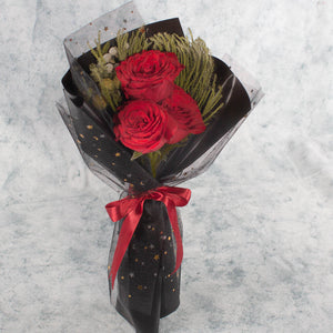 3 Red Roses | Little Florist Dream