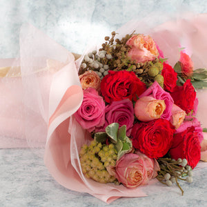 21 Roses Flower Bouquet | Singapore Free Delivery
