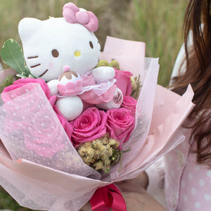 Hello Kitty Flower Bouquet Valentine's Day | Free Delivery Singapore