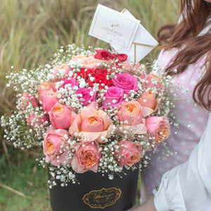 30 Roses Flower Box | Free Flower Delivery Singapore