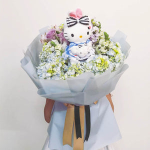 Hello Kitty Hydrangeas Bouquet | Little Florist Dream Singapore
