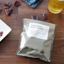 Load image into Gallery viewer, Organic Peppered Beef Jerky