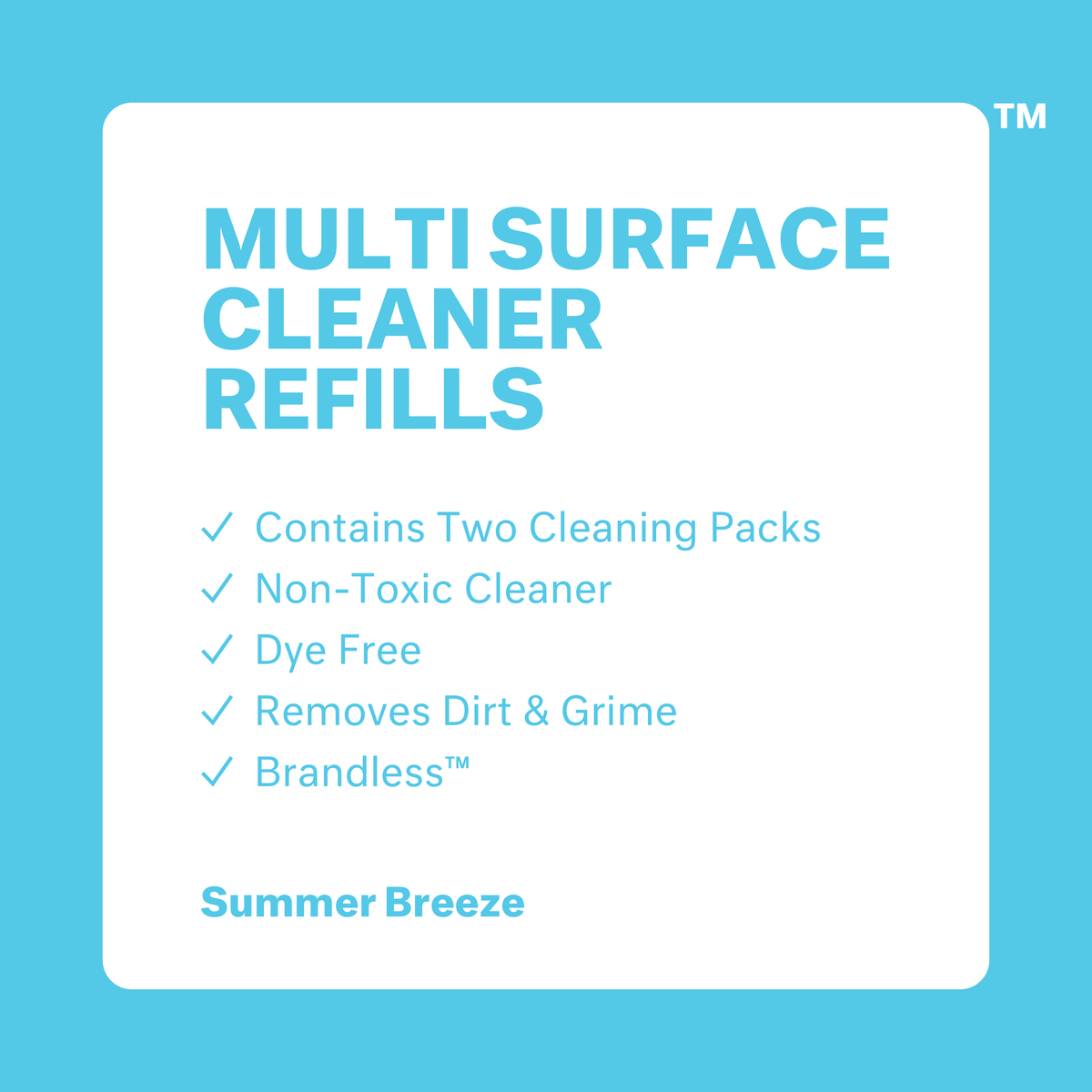 Multi Surface Cleaner Refills - Summer Breeze - 2 Pack