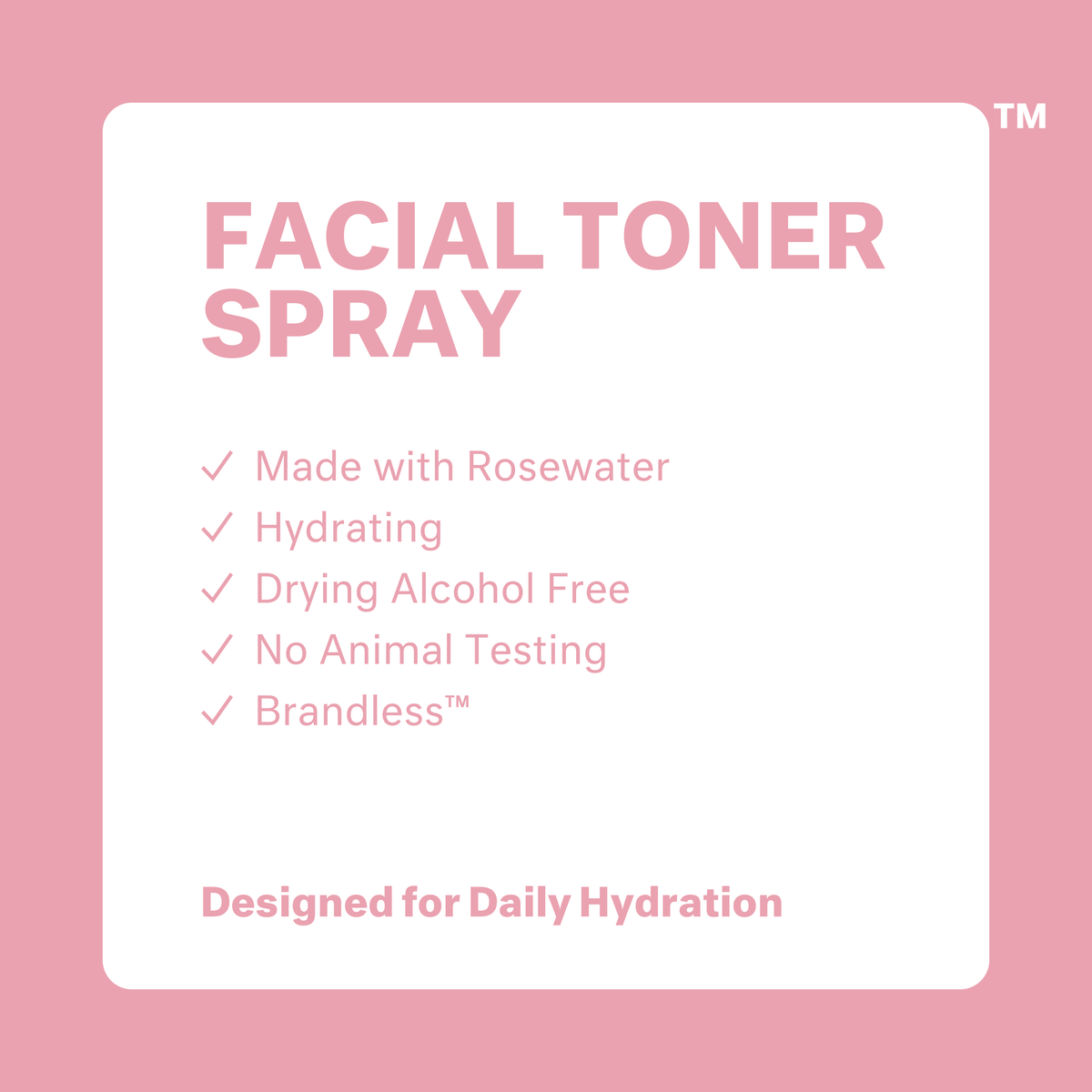 Hydrating Rosewater Facial Toner Spray