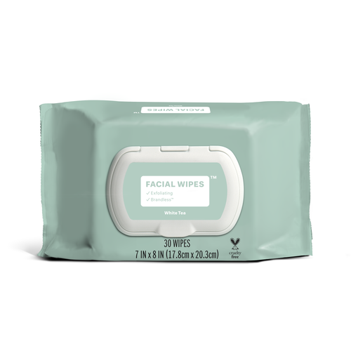 Exfoliating White Tea Facial Wipes