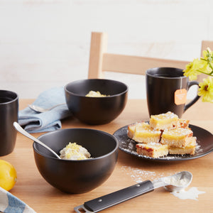 Black Stoneware Cereal Bowl - Set of 2