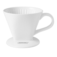 Load image into Gallery viewer, Porcelain Pour Over Coffee Cone